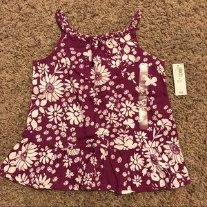 Old Navy Shirts & Tops - NWT girls Old Navy size 5T purple & white tank top